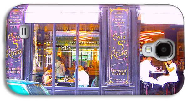 Canvas Wine Prints Galaxy S4 Cases - Lunch time at the Cafe St Regis in Paris Galaxy S4 Case by Jan Matson