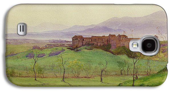 Autumn Landscape Drawings Galaxy S4 Cases - Lunghezza Half way Between Rome Galaxy S4 Case by Matthew Ridley Corbet