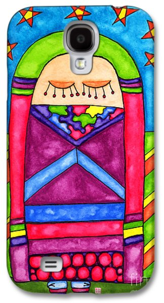 Animation Drawings Galaxy S4 Cases - Lupita Dreams of Starlight Galaxy S4 Case by Emily Lupita Studio
