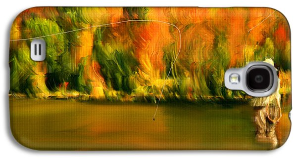 Flyfishing Galaxy S4 Cases - Lure Of Fly Fishing Galaxy S4 Case by Lourry Legarde