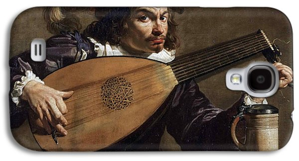 Lute Paintings Galaxy S4 Cases - Lute Player Galaxy S4 Case by Theodoor Rombouts