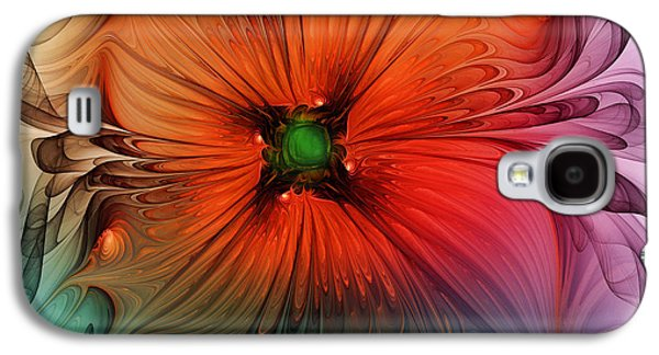 Oranger Galaxy S4 Cases - Luxury Blossom dressed in velvet and silk Galaxy S4 Case by Karin Kuhlmann
