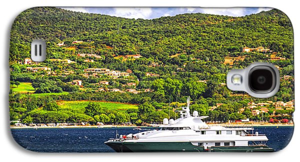 Yacht Galaxy S4 Cases - Luxury yacht at the coast of French Riviera Galaxy S4 Case by Elena Elisseeva