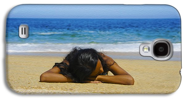 Sun Galaxy S4 Cases - Lying on the beach Galaxy S4 Case by Aged Pixel