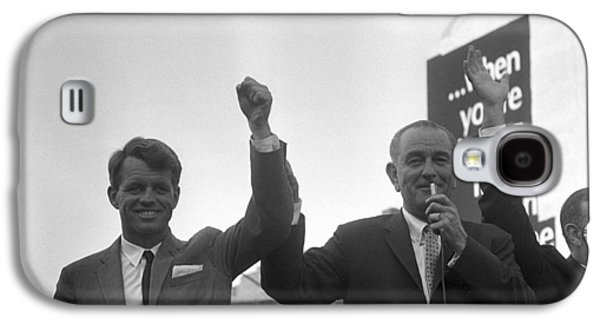 Democrats Galaxy S4 Cases - Lyndon Johnson With Robert Kennedy Galaxy S4 Case by War Is Hell Store