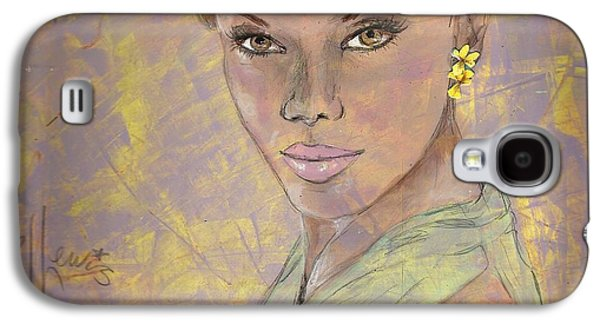 African-american Drawings Galaxy S4 Cases - Lynette Galaxy S4 Case by P J Lewis