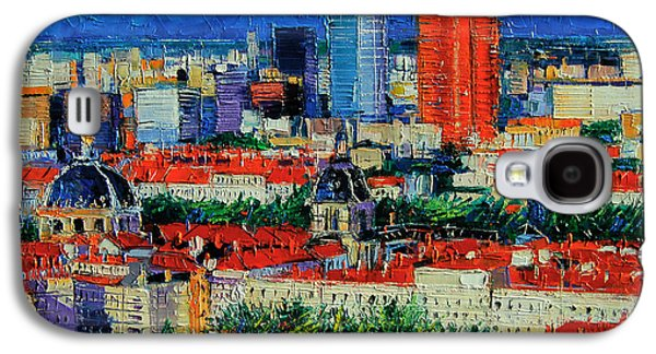 Chimneys Galaxy S4 Cases - Lyon View From Jardins Des Curiosites  Galaxy S4 Case by Mona Edulesco