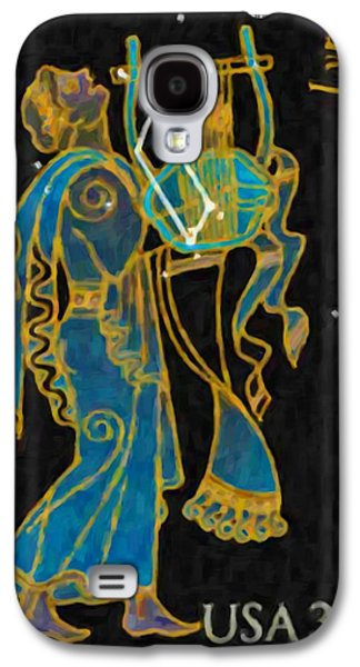 Constellations Paintings Galaxy S4 Cases - Lyra Galaxy S4 Case by Lanjee Chee