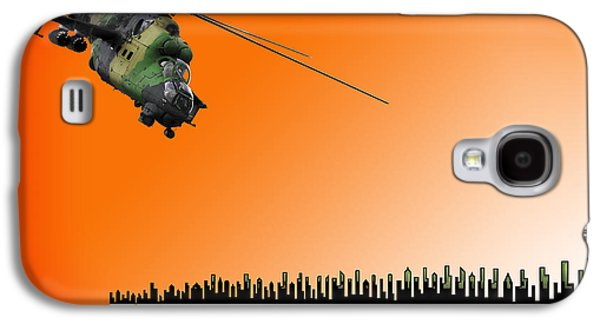 Helicopter Photographs Galaxy S4 Cases - M I - 24 Hind Russian Attack Helicopter Galaxy S4 Case by Daniel Hagerman