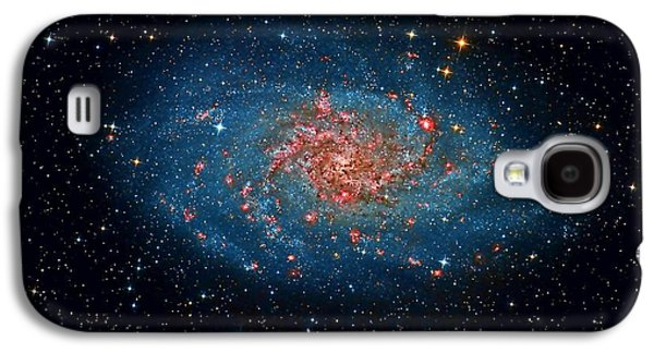 Stellar Paintings Galaxy S4 Cases - M33 Spiral Galaxy Galaxy S4 Case by Celestial Images