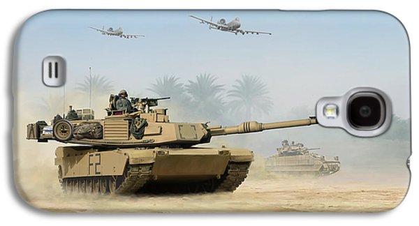 Iraq Prints Galaxy S4 Cases - M1A2 Abrams Galaxy S4 Case by Mark Karvon