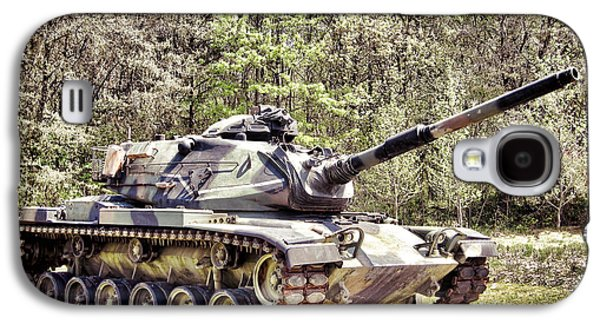 Exercise Photographs Galaxy S4 Cases - M60 Patton Tank Galaxy S4 Case by Olivier Le Queinec