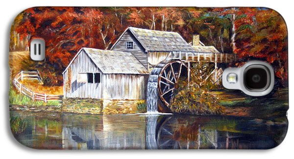 Grist Mill Paintings Galaxy S4 Cases - Mabry Mill Blue Ridge Virginia Galaxy S4 Case by LaVonne Hand