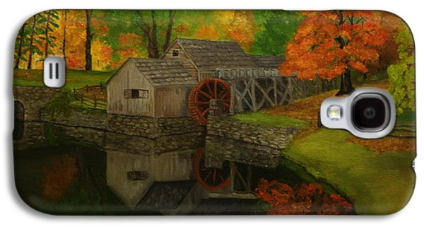 Grist Mill Paintings Galaxy S4 Cases - Mabry Mill Galaxy S4 Case by Timothy Smith