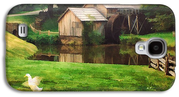 Old Mill Scenes Photographs Galaxy S4 Cases - Mabrys Mill and the Welcoming Committee Galaxy S4 Case by Darren Fisher