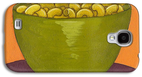 Purple Drawings Galaxy S4 Cases - Macaroni and Cheese Galaxy S4 Case by Christy Beckwith