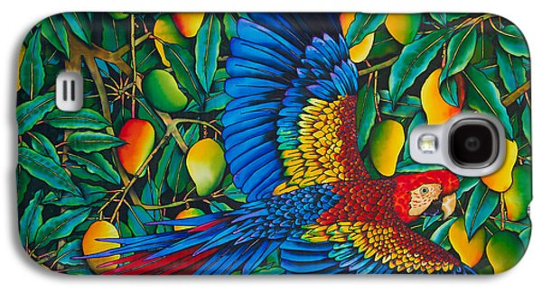 Food And Beverage Tapestries - Textiles Galaxy S4 Cases - Macaw in Mango tree Galaxy S4 Case by Daniel Jean-Baptiste