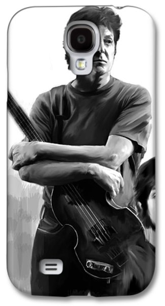 Beatles Drawings Galaxy S4 Cases - Macca II Paul McCartney Galaxy S4 Case by Iconic Images Art Gallery David Pucciarelli