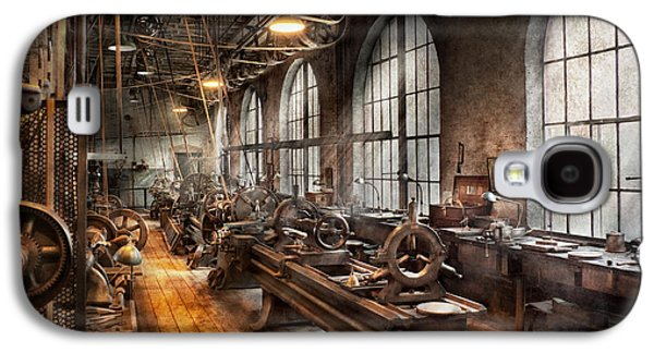 Msavad Galaxy S4 Cases - Machinist - A room full of Lathes  Galaxy S4 Case by Mike Savad