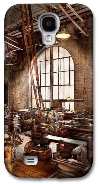 Old Mill Scenes Photographs Galaxy S4 Cases - Machinist - I like big tools Galaxy S4 Case by Mike Savad