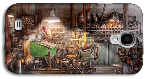Old Mill Scenes Photographs Galaxy S4 Cases - Machinist - It all starts with a Journeyman  Galaxy S4 Case by Mike Savad