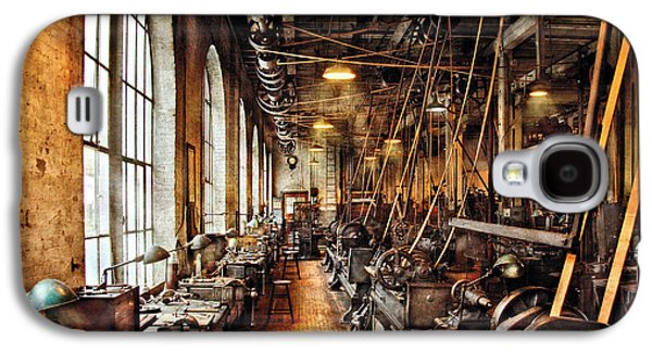 Quaint Photographs Galaxy S4 Cases - Machinist - Machine Shop Circa 1900s Galaxy S4 Case by Mike Savad