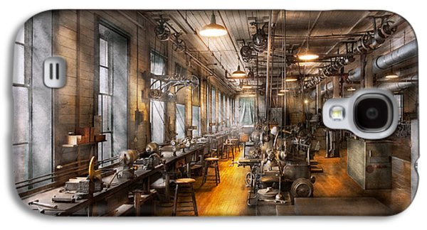 Machinery Galaxy S4 Cases - Machinist - Santas old workshop Galaxy S4 Case by Mike Savad