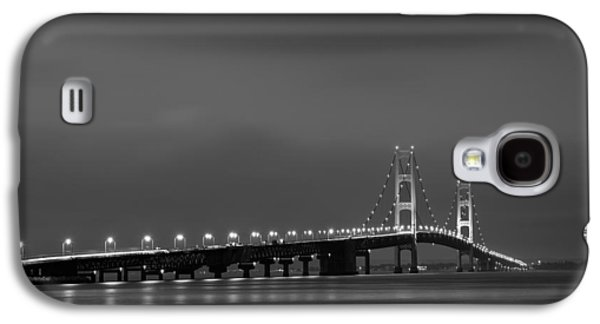 Office Photographs Galaxy S4 Cases - Mackinac Bridge Black and White Galaxy S4 Case by Sebastian Musial
