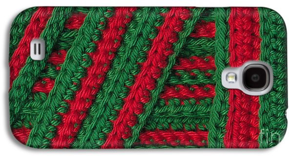 Colorful Abstract Tapestries - Textiles Galaxy S4 Cases - Macro crochet stripes Galaxy S4 Case by Kerstin Ivarsson