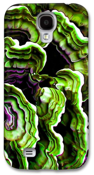Abstract Digital Art Galaxy S4 Cases - Macro Saprophyte in Green Galaxy S4 Case by Bill Caldwell -        ABeautifulSky Photography