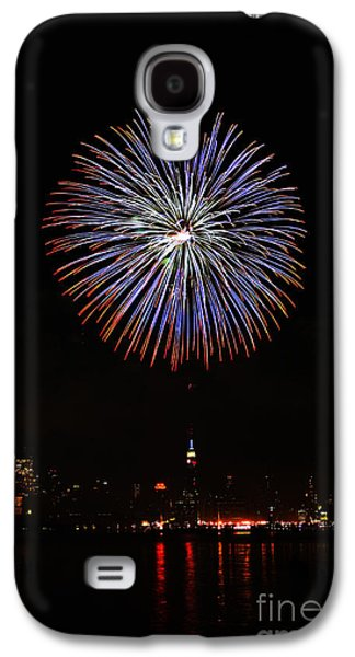 4th July Galaxy S4 Cases - Fireworks over the Empire State Building Galaxy S4 Case by Nishanth Gopinathan