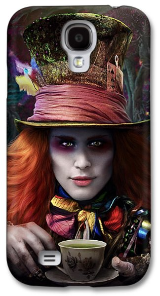 Mad Hatter Galaxy S4 Cases - Mad As a Hatter Galaxy S4 Case by Omri Koresh