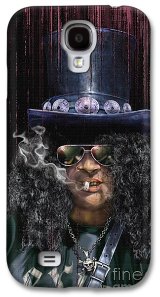 Slash Galaxy S4 Cases - Mad As A Hatter - Slash Galaxy S4 Case by Reggie Duffie