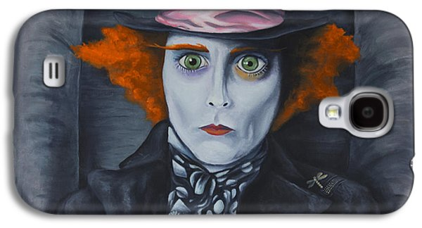 Mad Hatter Paintings Galaxy S4 Cases - Mad Hatter Galaxy S4 Case by Travis Radcliffe