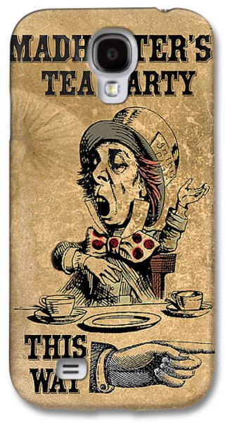 Mad Hatter Galaxy S4 Cases - Mad Hatters Tea Party Galaxy S4 Case by Greg Sharpe