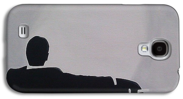 Mad Men In Silhouette Galaxy S4 Case by John Lyes