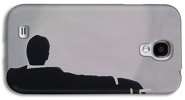 Chair Galaxy S4 Cases - Mad Men in Silhouette Galaxy S4 Case by John Lyes