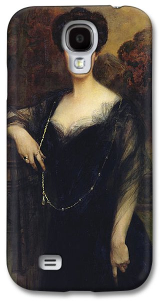 Wife Galaxy S4 Cases - Madame Faure, 1901 Oil On Canvas Galaxy S4 Case by Francois Flameng