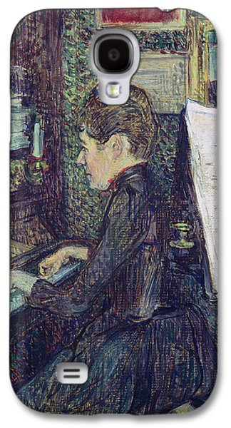 Pianist Photographs Galaxy S4 Cases - Mademoiselle Dihau 1843-1935 At The Piano, 1890 Oil On Canvas Galaxy S4 Case by Henri de Toulouse-Lautrec