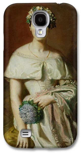 Three Quarter Length Galaxy S4 Cases - Mademoiselle Marie Therese de Cabarrus Galaxy S4 Case by Theodore Chasseriau