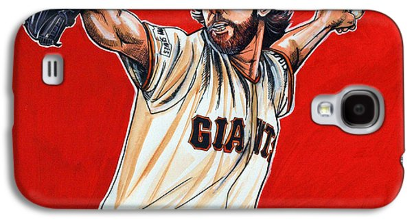 Espn Galaxy S4 Cases - Madison Bumgarner World Series MVP Galaxy S4 Case by Dave Olsen