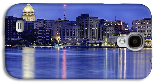 Madison Skyline Reflection Galaxy S4 Case by Sebastian Musial