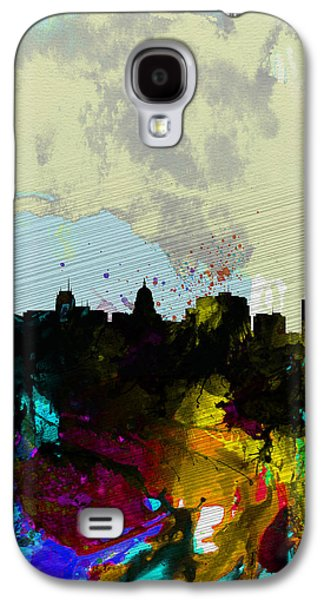 Madison Galaxy S4 Cases - Madison Watercolor Skyline Galaxy S4 Case by Naxart Studio