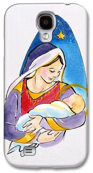 Halo Galaxy S4 Cases - Madonna And Child, 1996 Wc Galaxy S4 Case by Diane Matthes