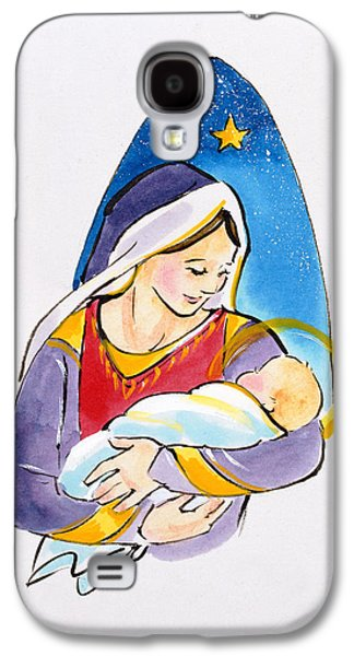 Madonna And Child Galaxy S4 Case by Diane Matthes