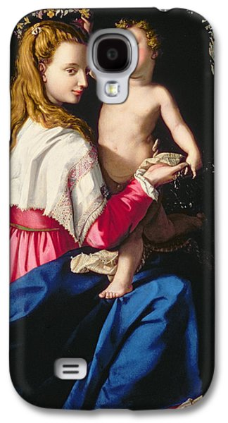 Child Jesus Paintings Galaxy S4 Cases - Madonna and Child Galaxy S4 Case by Alessandro Allori
