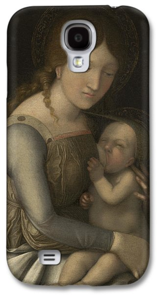 Renaissance Paintings Galaxy S4 Cases - Madonna and Child Galaxy S4 Case by Andrea Mantegna