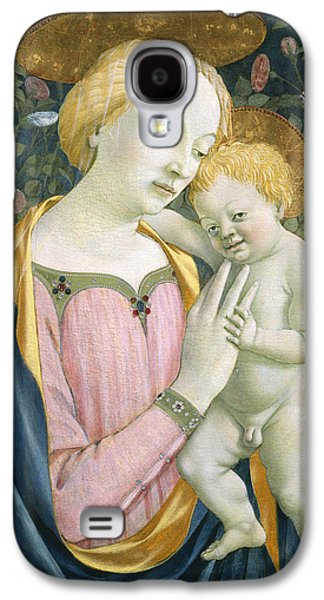 Renaissance Paintings Galaxy S4 Cases - Madonna and Child Galaxy S4 Case by Domenico Veneziano