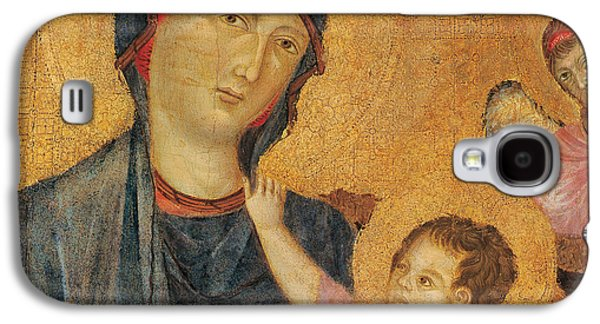 Child Jesus Paintings Galaxy S4 Cases - Madonna and Child Enthroned  Galaxy S4 Case by Cimabue