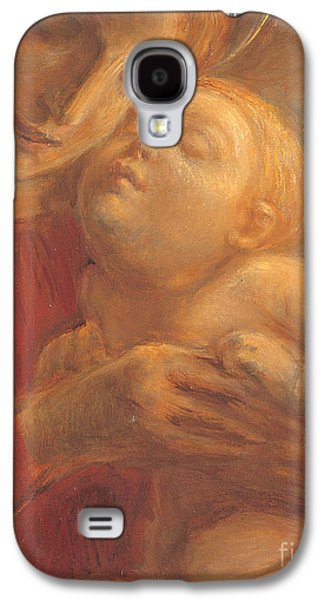 Bonding Galaxy S4 Cases - Madonna and Child Galaxy S4 Case by Gaetano Previati